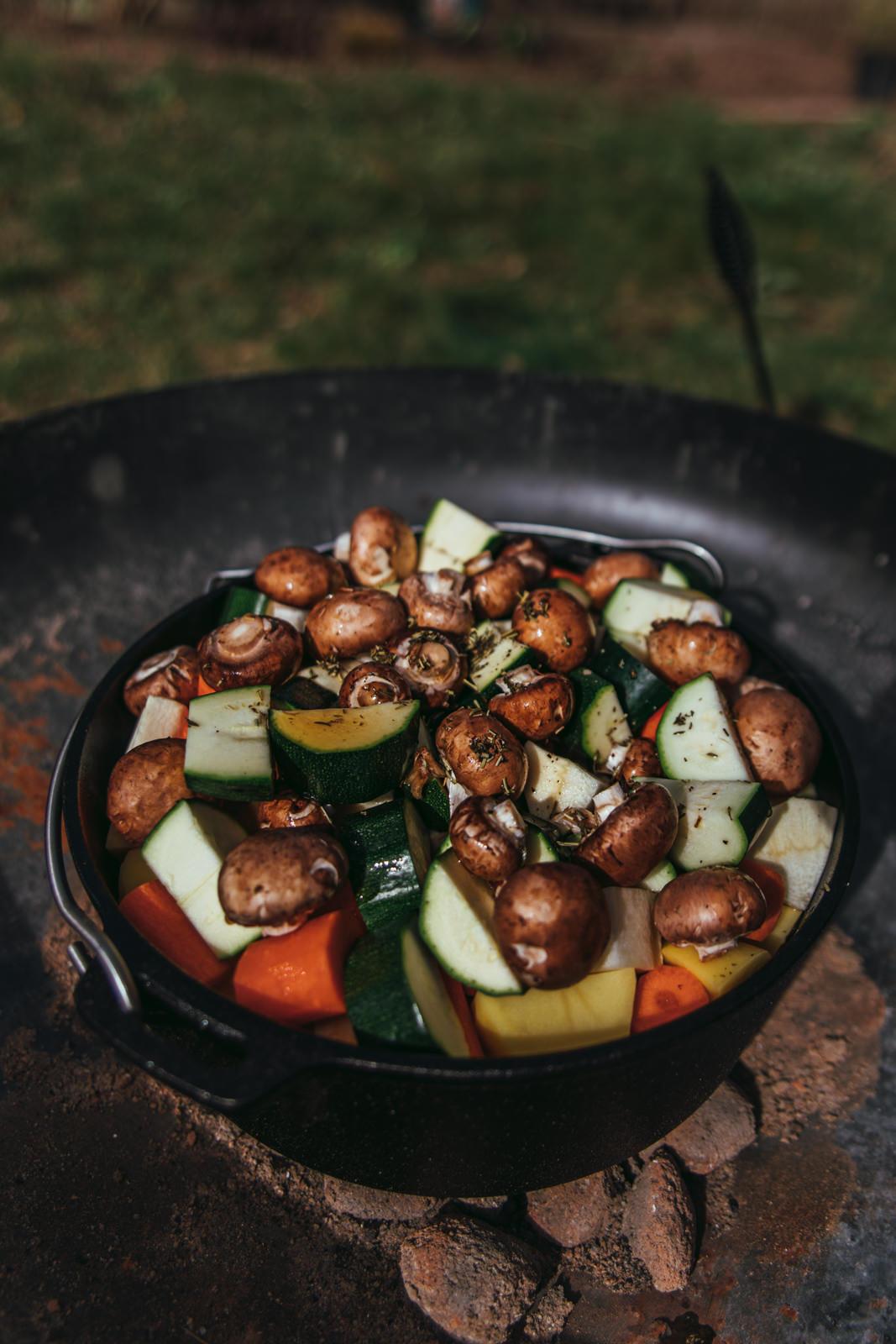 Lamm Potjiekos mit Gemüse